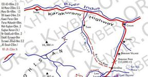 Kaghan Valley Map.