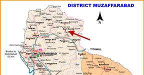 Muzaffarabad District AJK Map